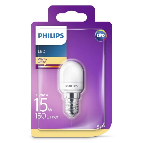 LED Žárovka do lednice Philips E14/1,7W/230V