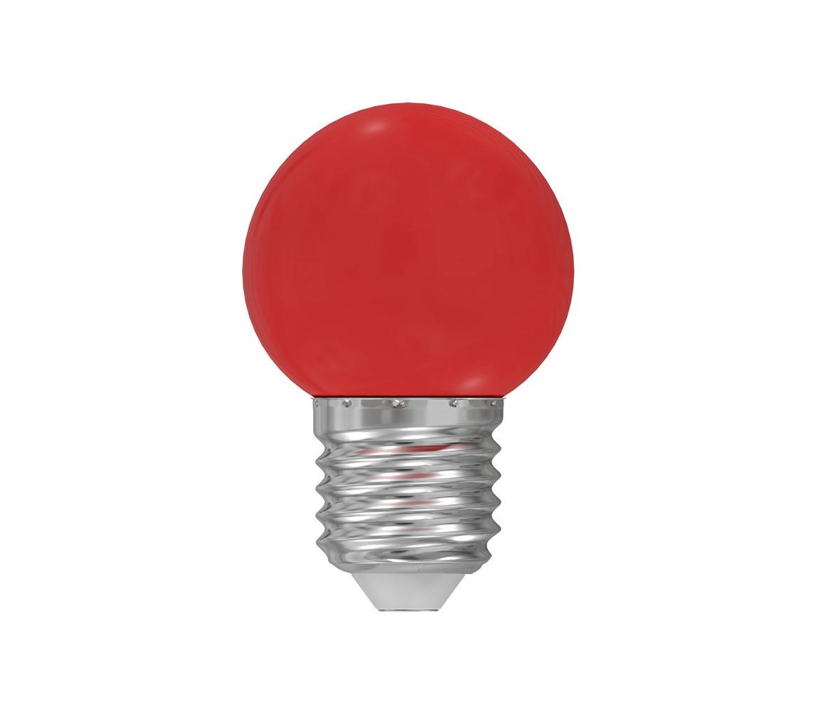 Wojnarowscy LED žárovka E27/1W/230V červená