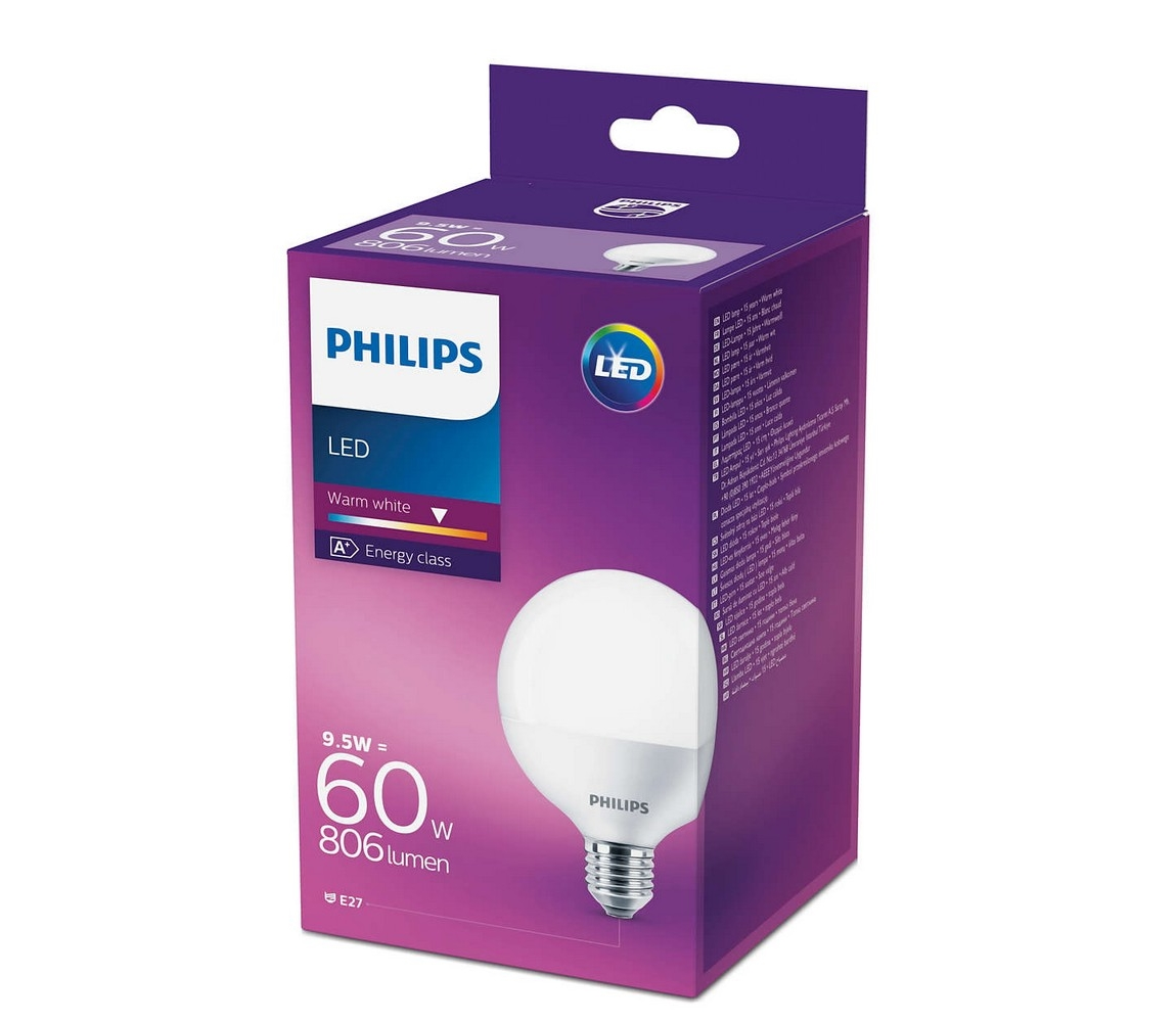 Philips LED Žárovka Philips E27/9,5W/230V 2700K P2547