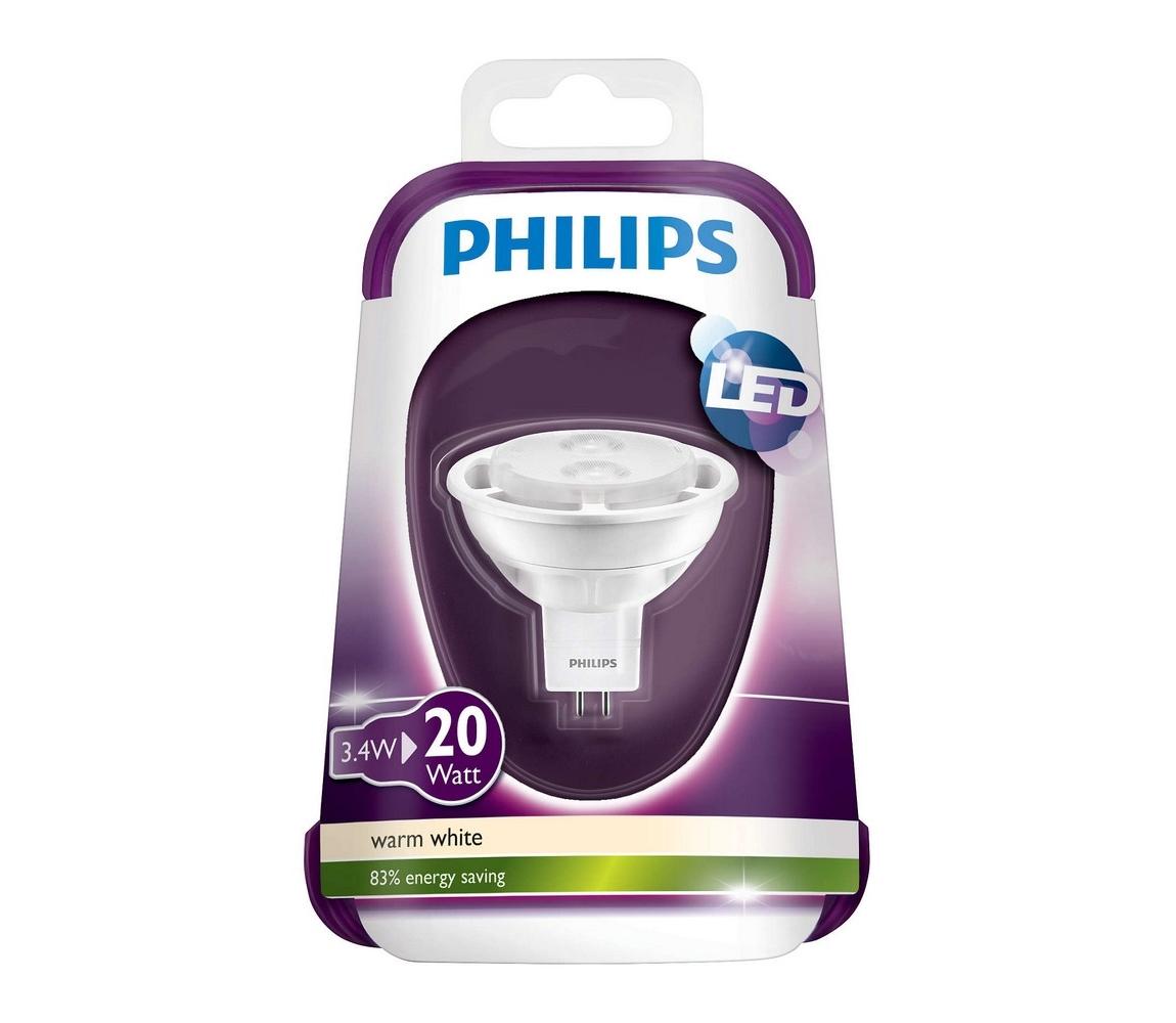 Philips LED Žárovka Philips GU5,3/MR16/3,4W/12V 2700K