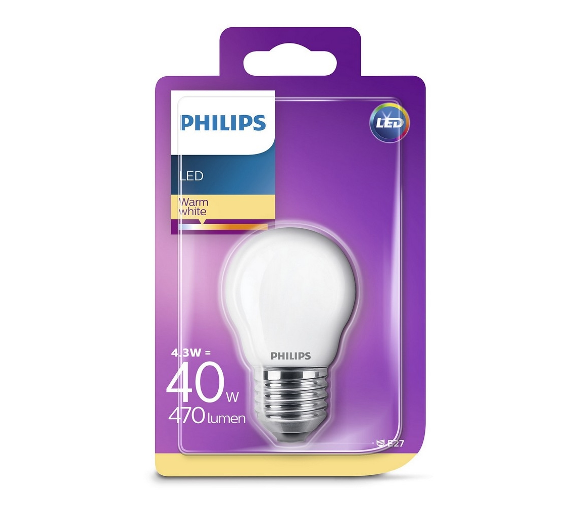 Philips LED Žárovka Philips P45 E27/4,3W/230V 3000K