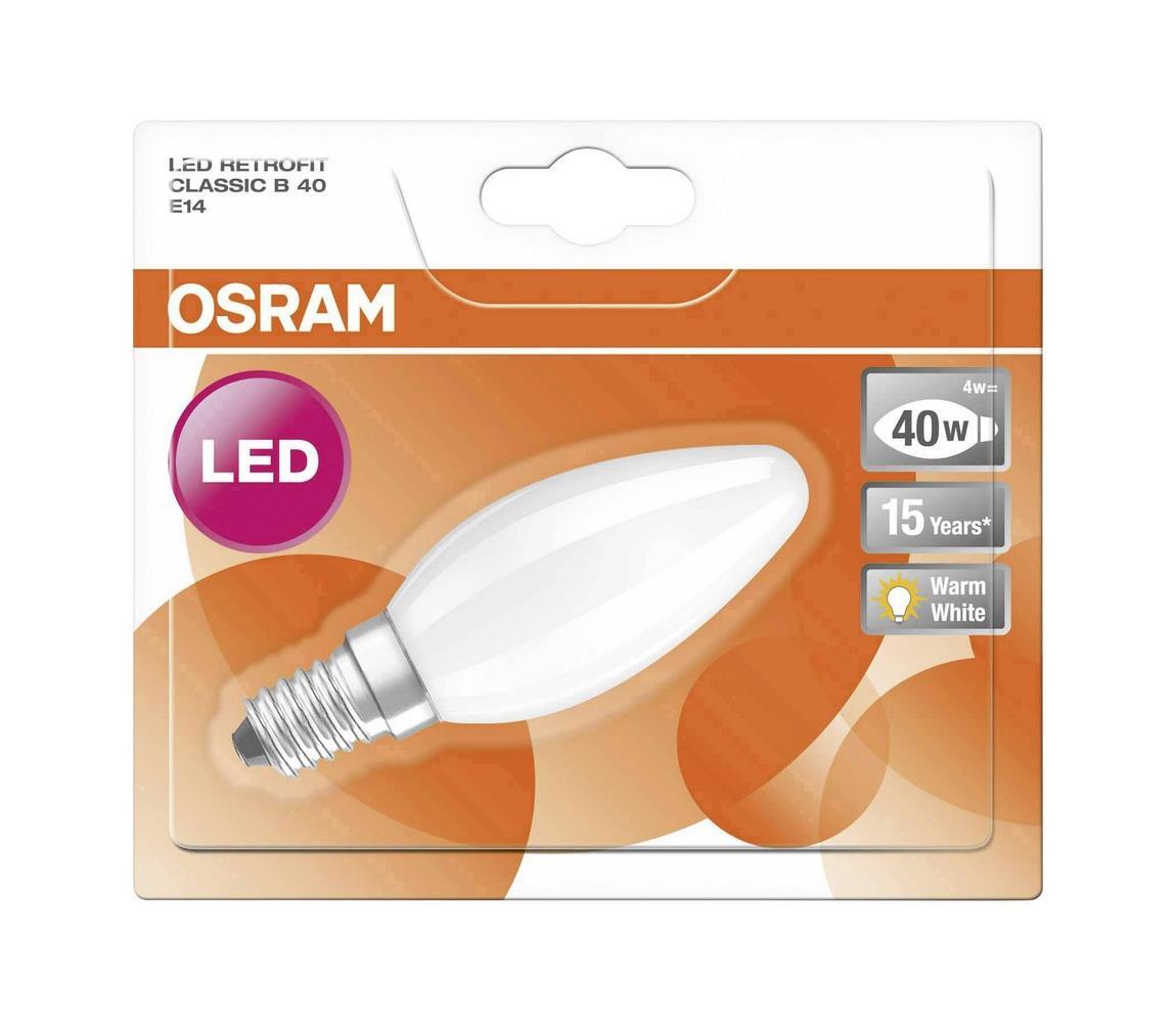Osram LED Žárovka RETROFIT B40 E14/4W/230V 2700K