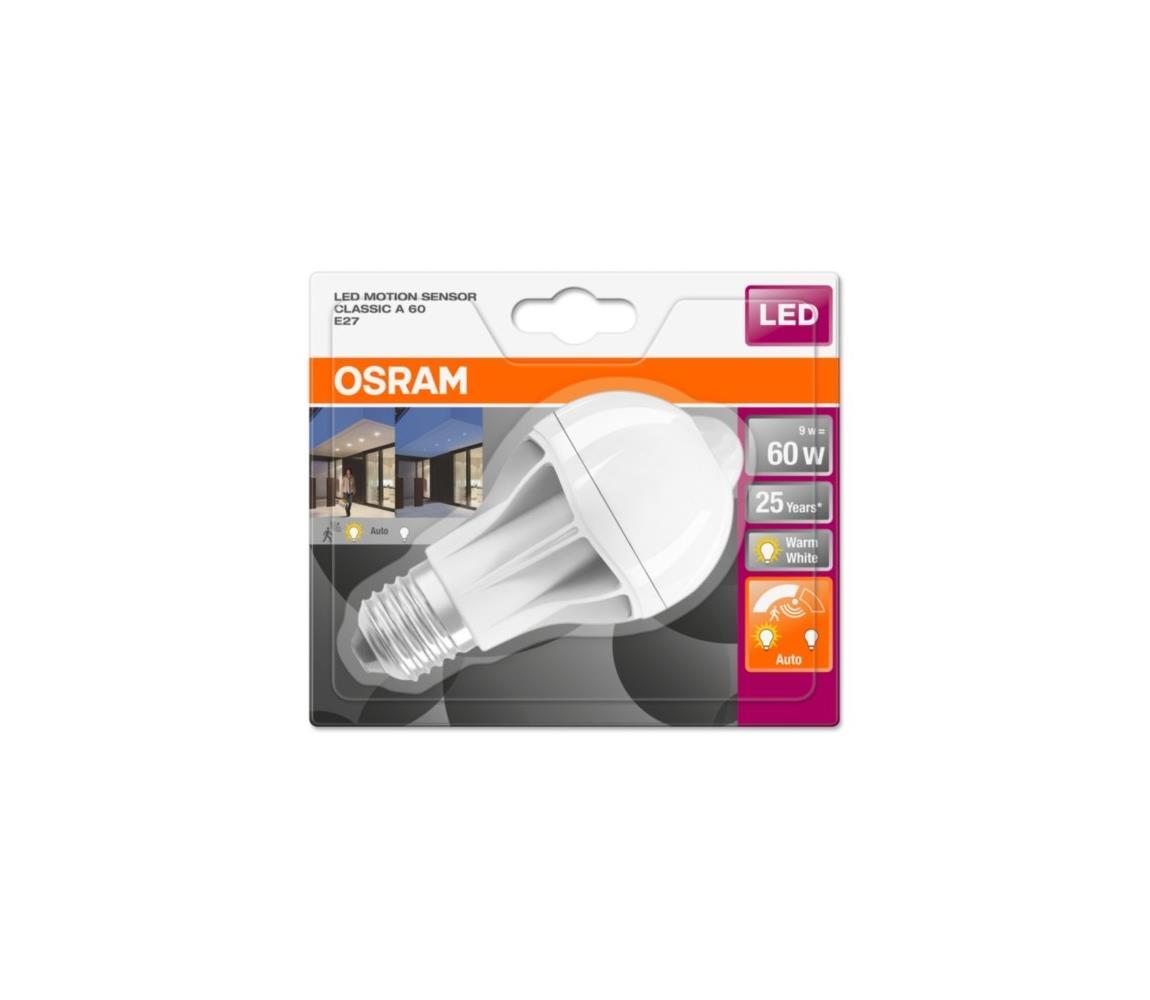 Osram LED Žárovka se senzorem pohybu STAR E27/9W/230V 2700K