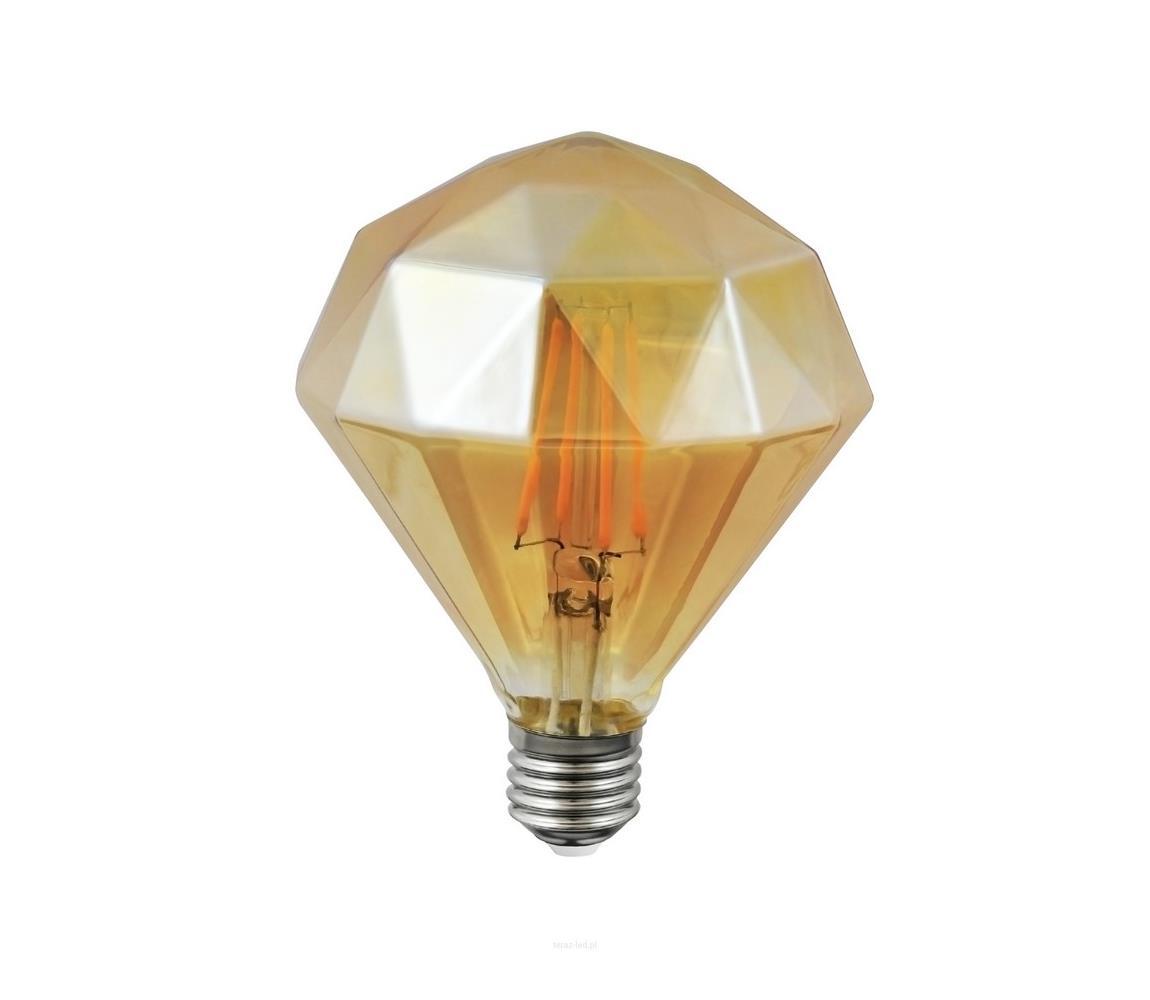Polux LED žárovka VINTAGE AMBER E27/4W/230V 2700K