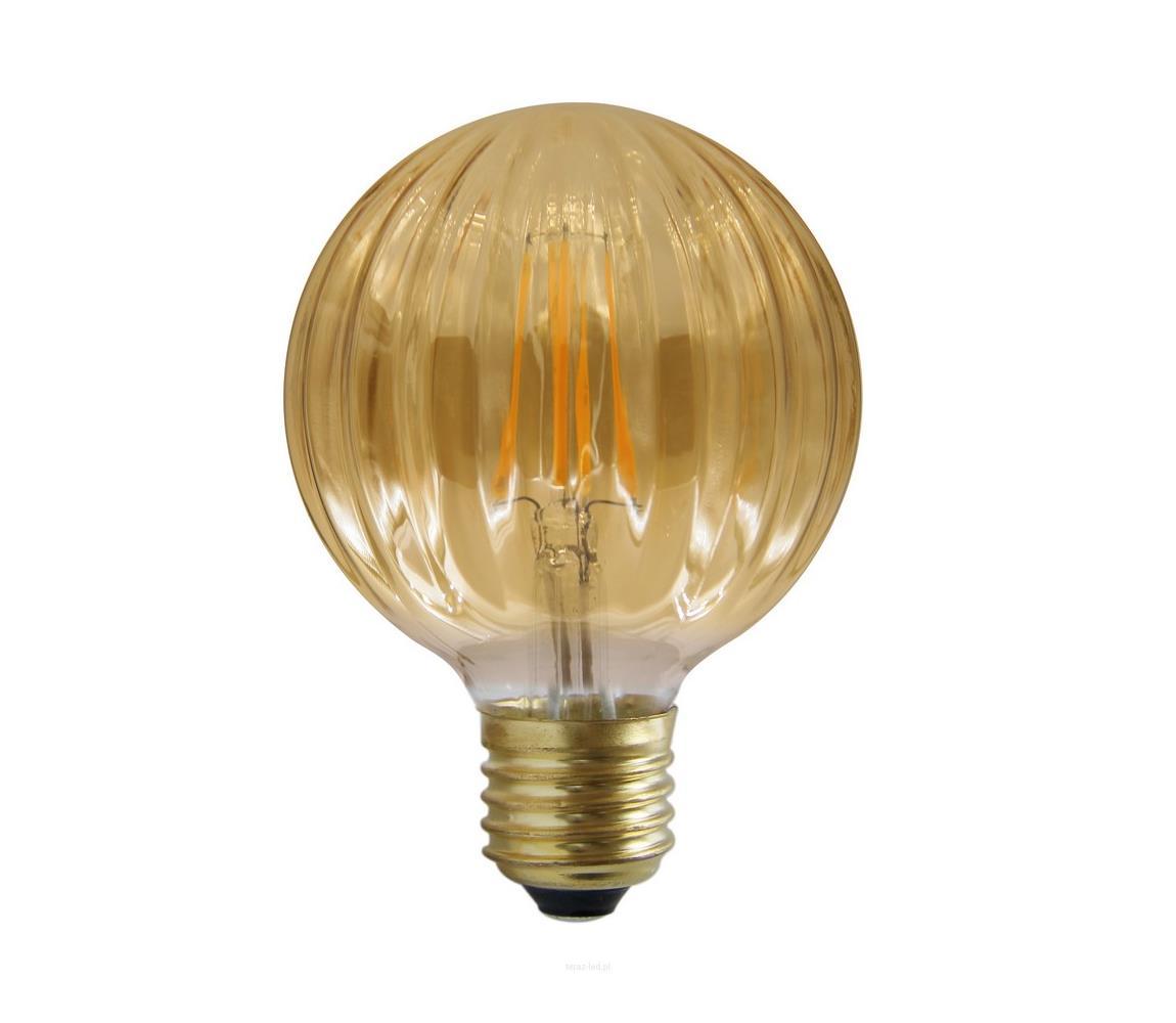 Polux LED žárovka VINTAGE AMBER E27/4W/230V G100