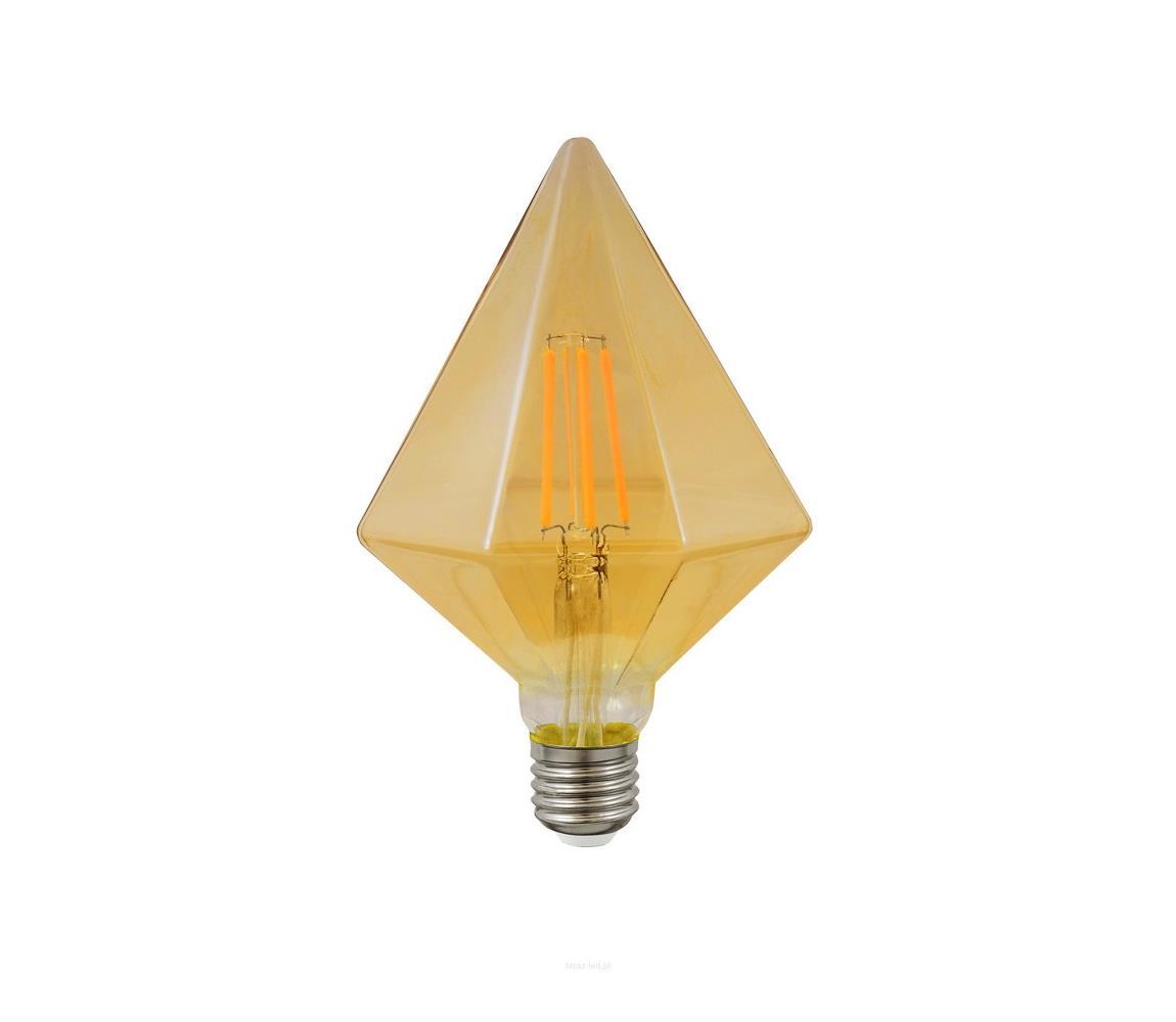 Polux LED žárovka VINTAGE AMBER E27/4W/230V hranatá