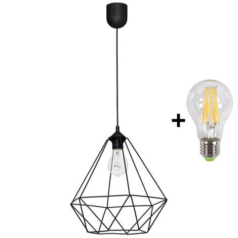 LED Závěsné svítidlo BASKET 1xE27/10W/230V