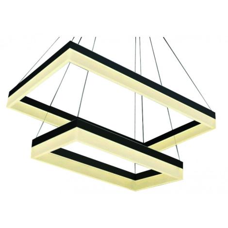 LEDKO 00286 - LED Lustr Ondaren Quadro LED/55W/230V