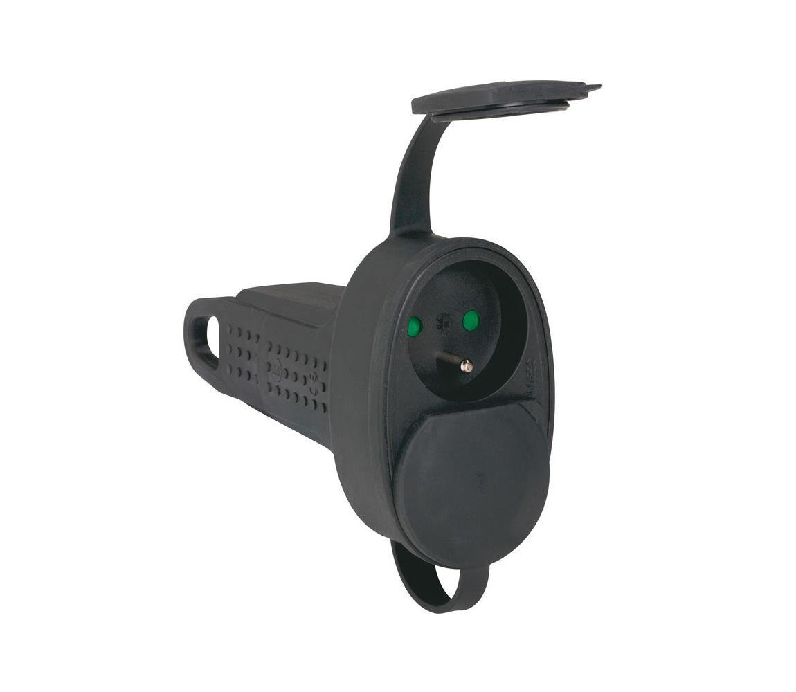 Legrand Legrand 50575 - Zásuvka gumová bez kabelu 250V/16A 2X2P+T IP44 černá SM50575