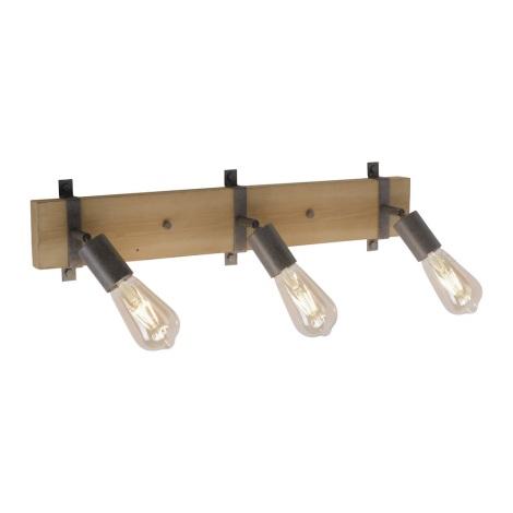 Leuchten Direkt 13473-79 - Nástěnné bodové svítidlo SLAT 3xE27/40W/230V