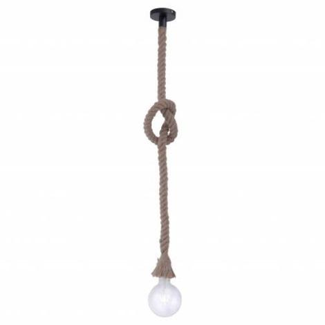 Leuchten Direkt 15481-18 - Lustr na lanku ROPE 1xE27/60W/230V