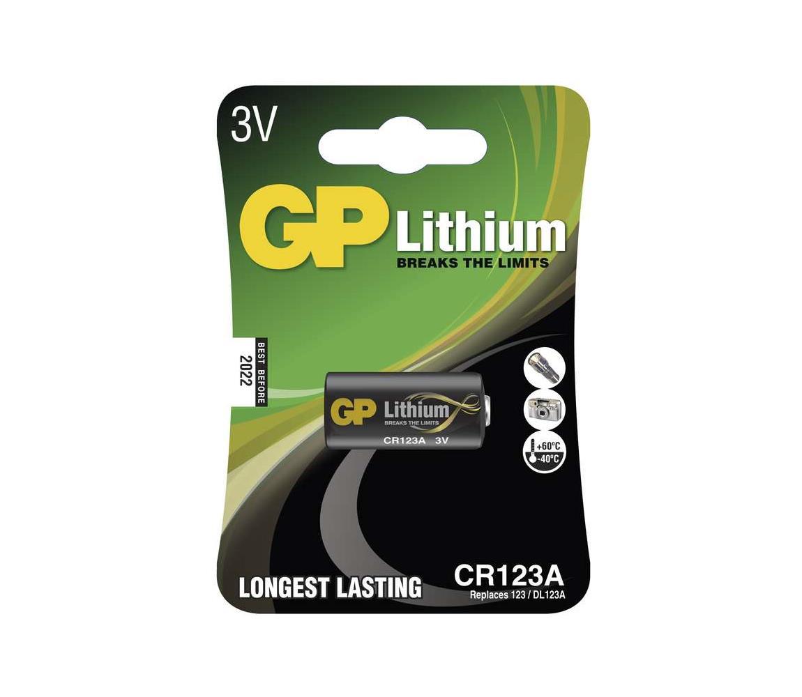 EMOS Lithiová baterie CR123A GP LITHIUM 3V/1400 mAh EMS072