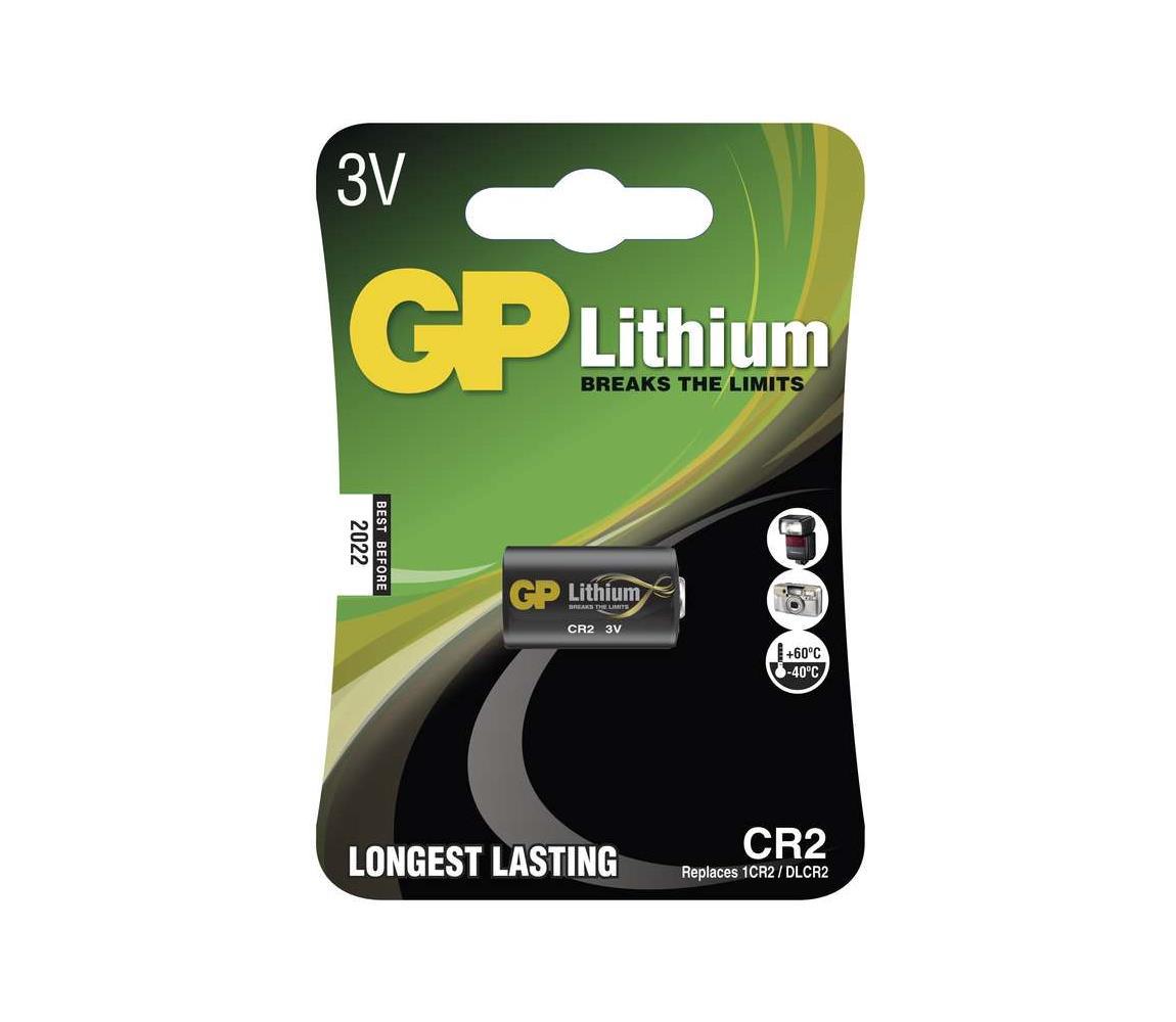 EMOS Lithiová baterie CR2 GP LITHIUM 3V/800 mAh EMS073
