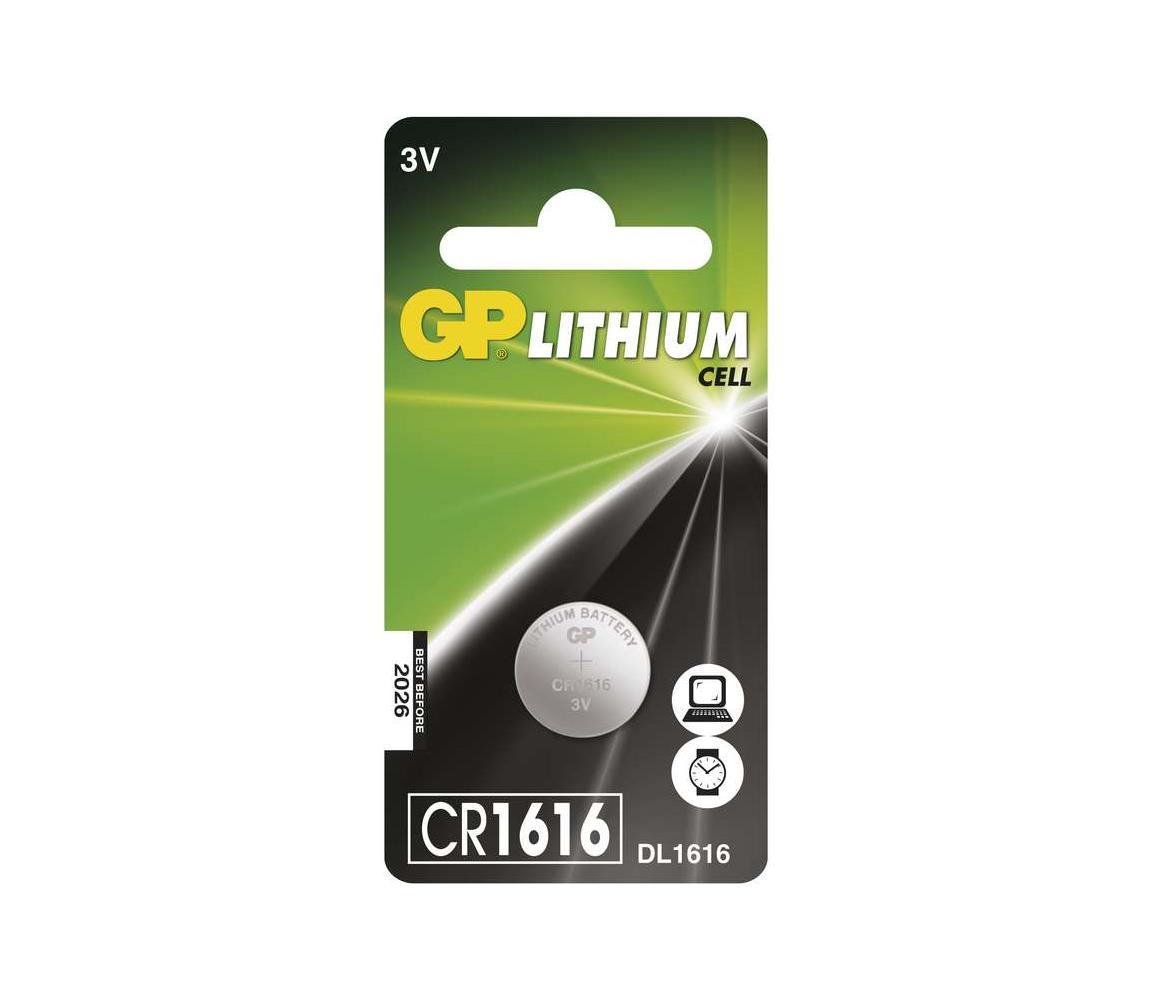 EMOS Lithiová baterie knoflíková CR1616 GP LITHIUM 3V/55 mAh