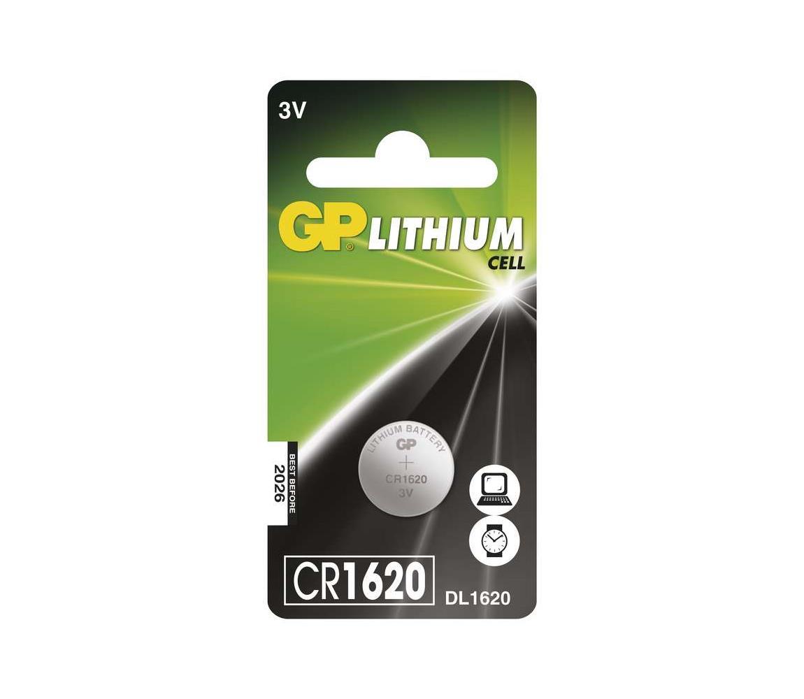 EMOS Lithiová baterie knoflíková CR1620 GP LITHIUM 3V/75 mAh EMS079