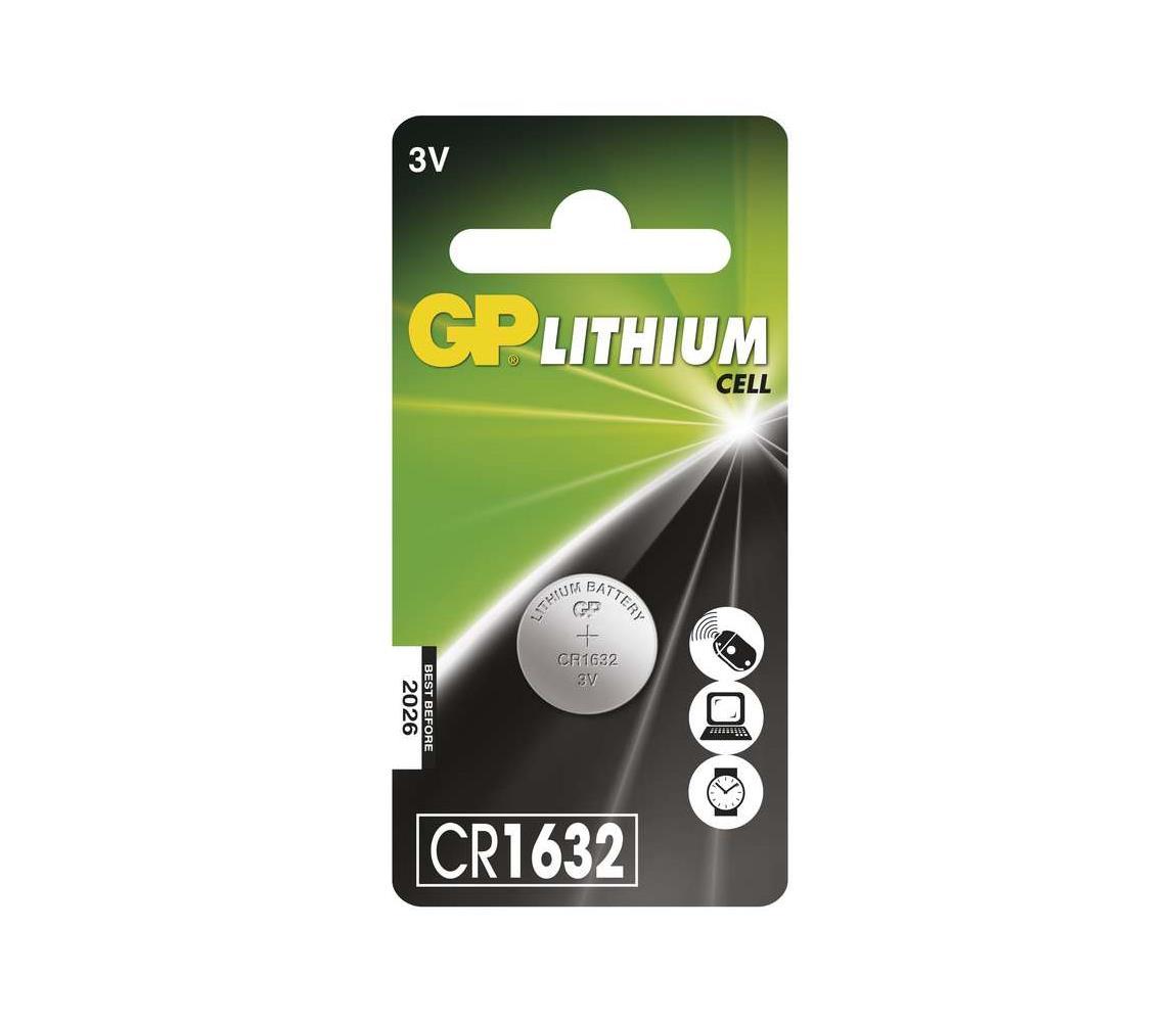 EMOS Lithiová baterie knoflíková CR1632 GP LITHIUM 3V/140 mAh EMS081