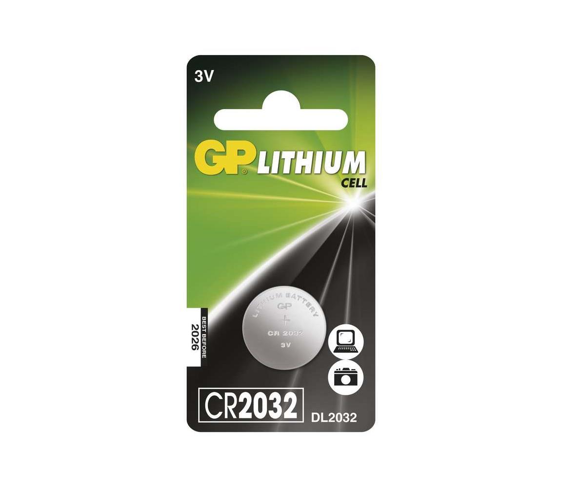 EMOS Lithiová baterie knoflíková CR2032 GP LITHIUM 3V/220 mAh