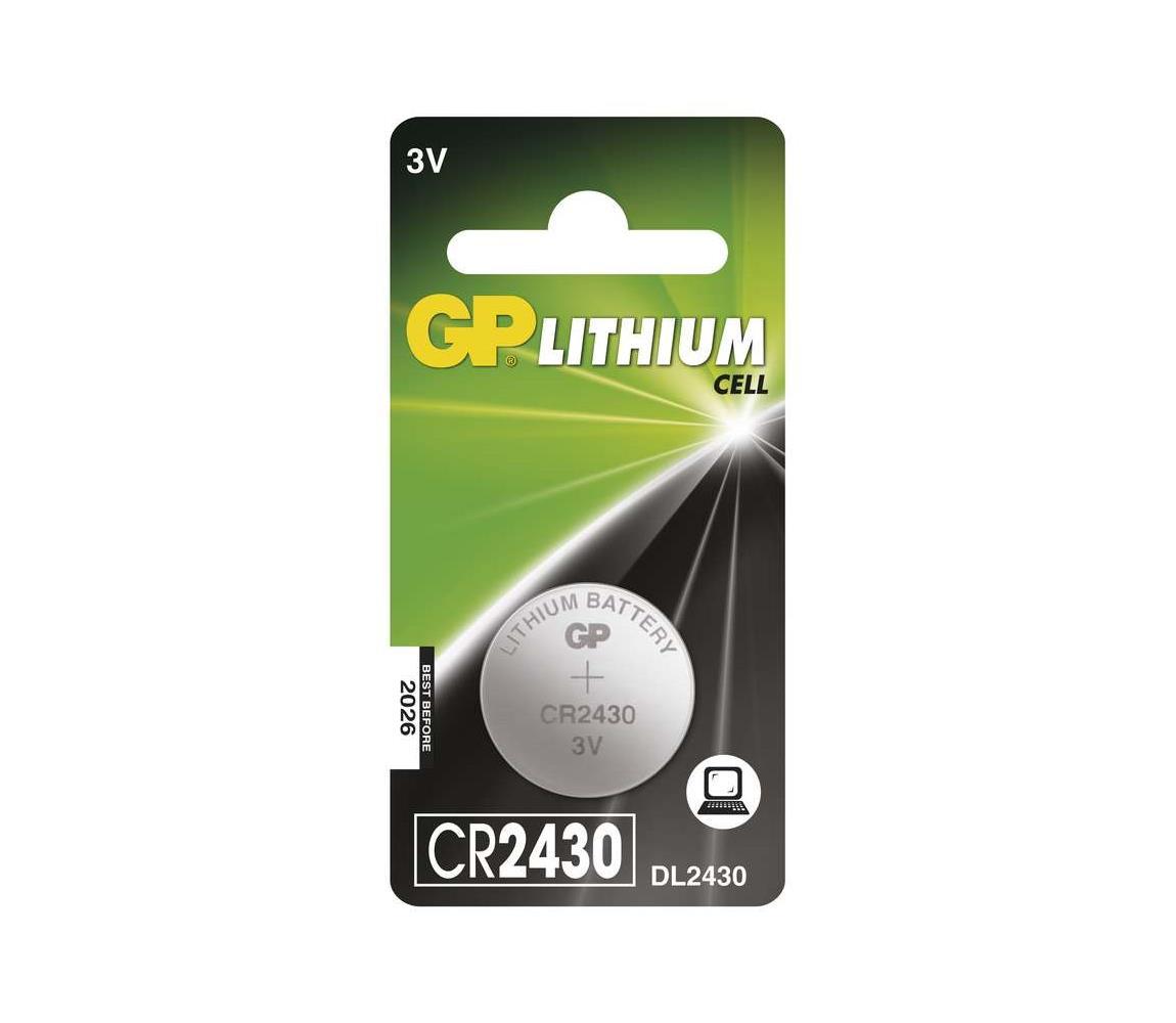 EMOS Lithiová baterie knoflíková CR2430 GP LITHIUM 3V/300 mAh