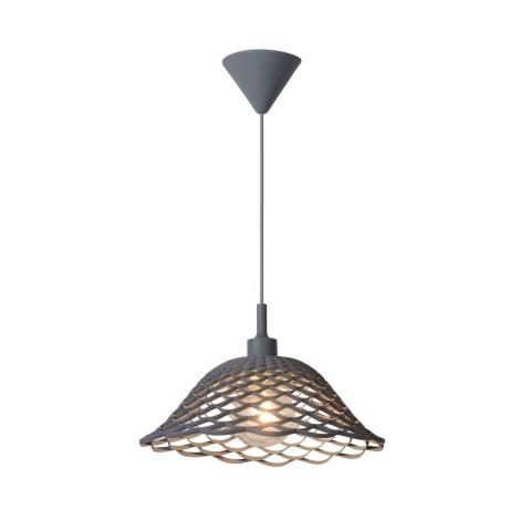 Lucide 08409/37/36 - Závěsné svítidlo CORTI 1xE27/60W/230V šedé