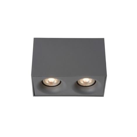 Lucide 09913/10/36 - LED bodové svítidlo BENTOO-LED 2xGU10/4,5W/230V šedé