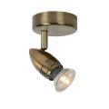Lucide 13955/05/03 - LED bodové svítidlo CARO-LED 1xGU10/5W/230V bronz