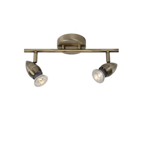 Lucide 13955/10/03 - LED bodové svítidlo CARO-LED 2xGU10/5W/230V bronz