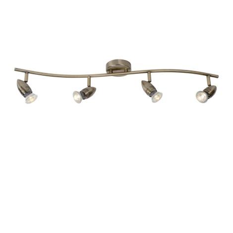 Lucide 13955/20/03 - LED bodové svítidlo CARO-LED 4xGU10/5W/230V bronz