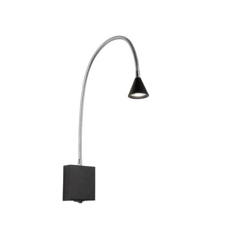Lucide 18293/03/30 - LED Nástěnné bodové svítidlo BUDDY LED/3W/230V černá