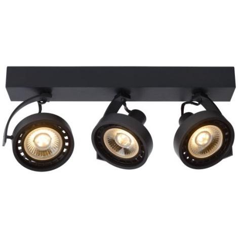 Lucide 22968/36/30 -LED Stmívatelné bodové svítidlo DORIAN 3xGU10/12W/230V černá