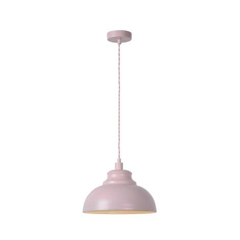 Lucide 34400/29/66 - Závěsné svítidlo ISLA 1xE14/40W/230V růžové