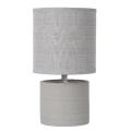 Lucide 47502/81/36 - Stolní lampa GREASBY 1xE14/40W/230V šedá