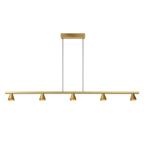 Lucide 79482/30/02 - LED Stmívatelný lustr na lanku DELANO 5xLED/5W/230V zlatá