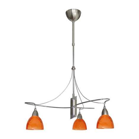 Lustr CARRAT matný chrom/chrom/oranž