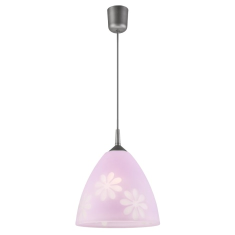 Lustr na lanku 1xE27/60W/230V květiny