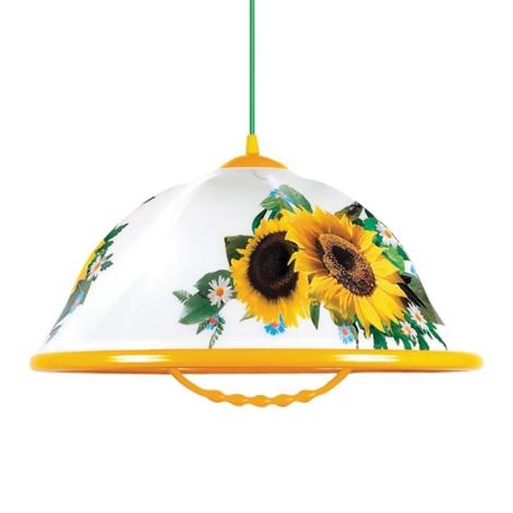 Lustr na lanku AKRYL K 1xE27/60W slunečnice
