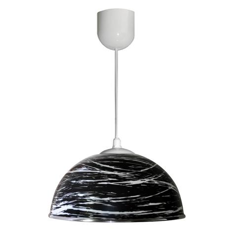 Lustr na lanku AKRYL KS 1xE27/60W černá abstrakt