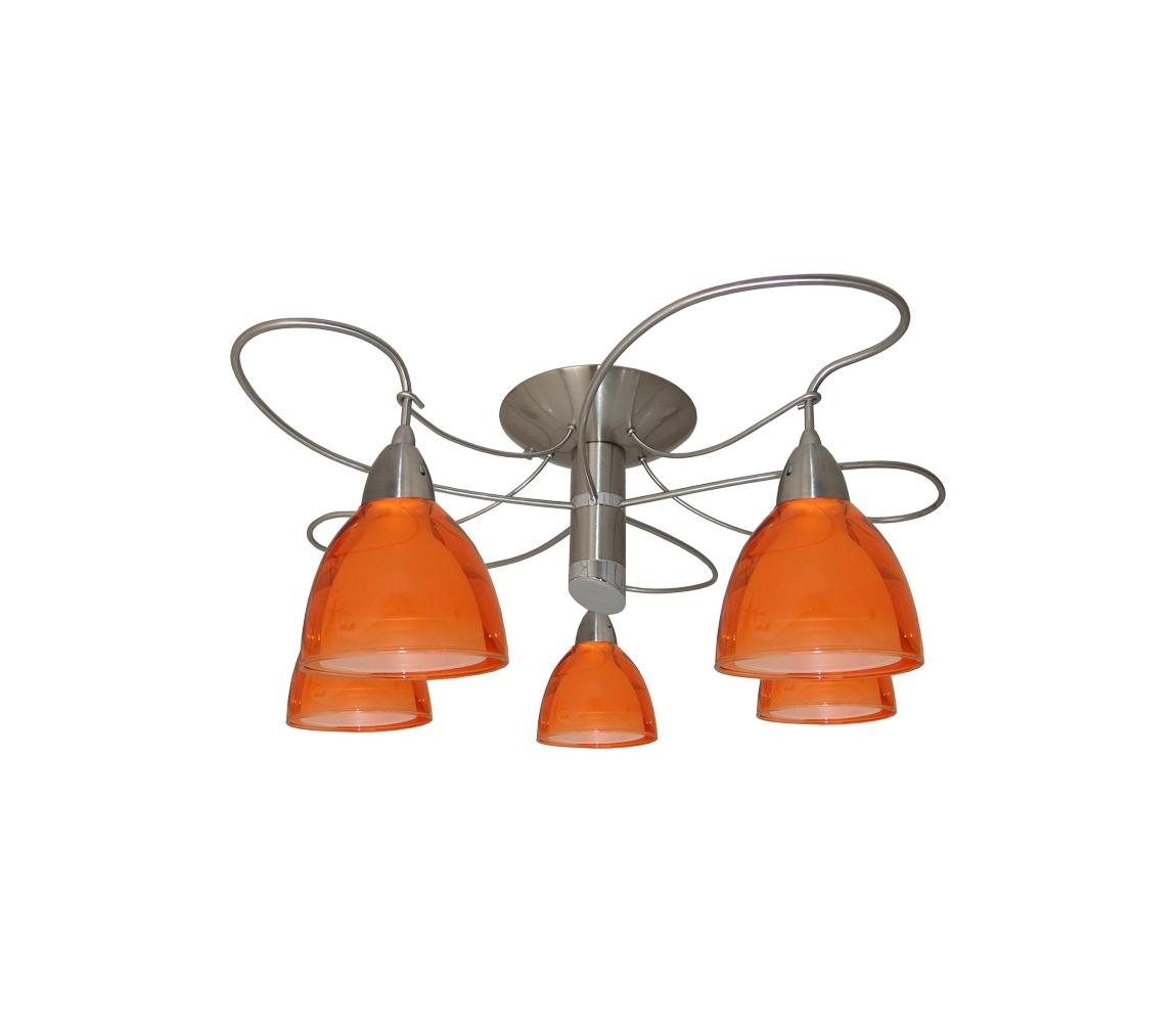 Prezent Lustr přisazený CARRAT matný chrom/chrom/oranž