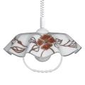 Lustr stahovací AKRYL FA 1xE27/60W bílá+květy tmavé