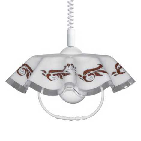 Lustr stahovací AKRYL FA 1xE27/60W ornament hnědý