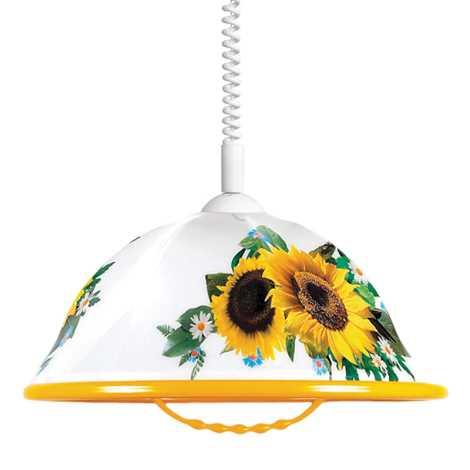 Lustr stahovací AKRYL K 1xE27/60W slunečnice
