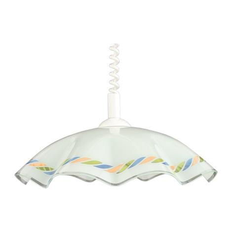 Lustr stahovací LYRA GLASS sklo