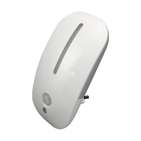Luxera 1618 - LED svítidlo do zásuvky MINI LIGHT 1+8LED/0,3W/230V senzor