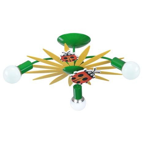 Luxera 28033 - Dětské stropní svítidlo QUETT 3xE27/40W/230V