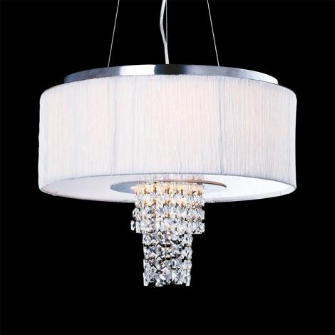 Luxera 33500 - Závěsné stropní svítidlo PASHMINA 6XE14/40W/230V