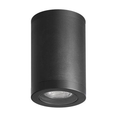 Luxera 48325 - Venkovní stropní svítidlo MOPTI 1xGU10/7W/230V IP54 černá