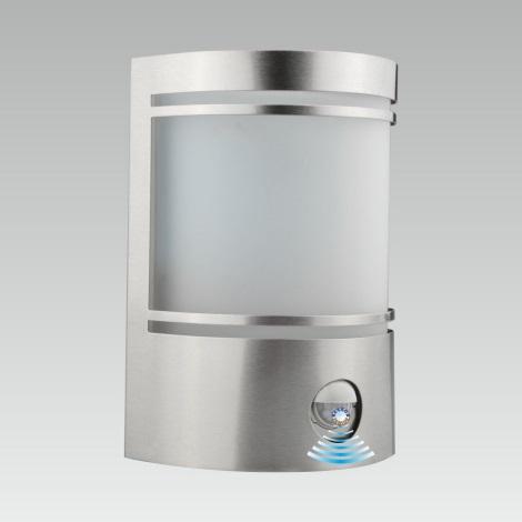 LUXERA 61031 - Senzorové venkovní nástěnné svítidlo AZZURO 1xE27/60W