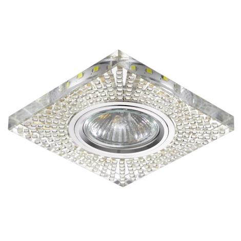 Luxera 71072 - Podhledové svítidlo ELEGANT 1xGU10/50W/230V + LED STRIPE