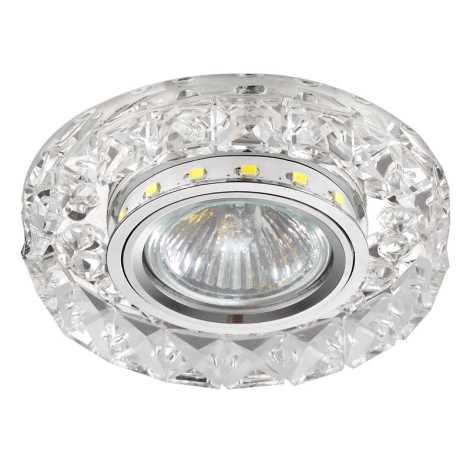 Luxera 71074 - Podhledové svítidlo CRYSTALS 1xGU10/50W/230V + LED STRIPE