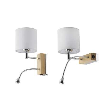 MANGO MA K D - LED nástěnné svítidlo 1xE27/60W + LED/1W/230V