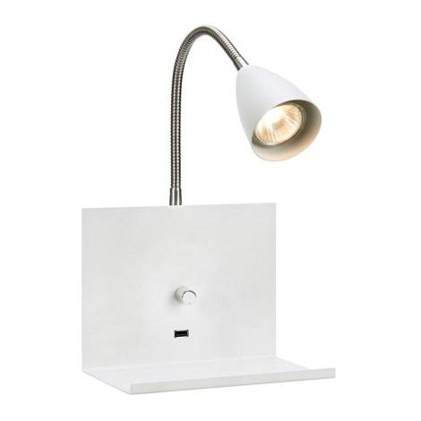 Markslöjd 107140 - Stmívatelné nástěnné svítidlo s USB zásuvkou LOGI 1xGU10/7W/230V